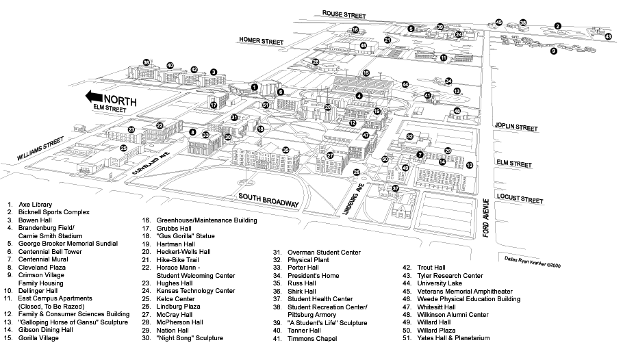 Pittsburg State University Campus Map Ourcampusmap